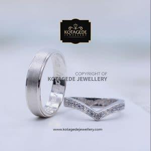 Cincin Kawin Tunangan Palladium Emas Putih PD0142WG
