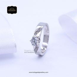 Cincin Kawin Tunangan Platinum Diamond Elegant PT0160