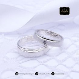 Cincin Kawin Tunangan Couple Palladium Glossy PD0162PD