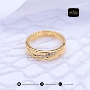 Cincin Kawin Tunangan Elegant Emas Kuning YG0163