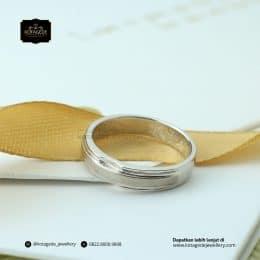 Cincin Kawin Tunangan Elegant Emas Putih Premium WG0171