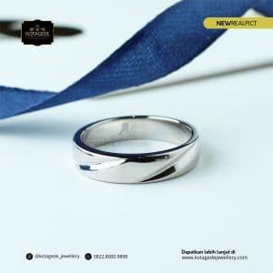 Cincin Kawin Tunangan Emas Putih Premium Elegant WG0175