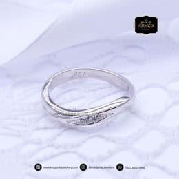 Cincin Kawin Tunangan Emas Putih Premium WG0164