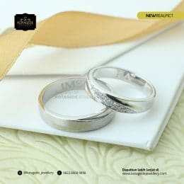 Cincin Kawin Tunangan Palladium Couple PD0172PD