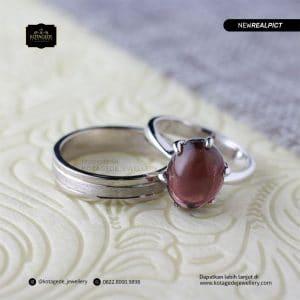 Cincin Kawin Tunangan Platinum Pink Diamond PT0181PT