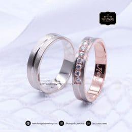 Cincin Kawin Tunangan Platinum Rose Gold PT0165RG
