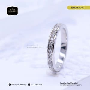 Cincin Kawin Tunangan Emas Putih Premium Diamond WG0204