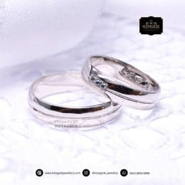 Cincin Kawin Tunangan Palladium Couple PD0196PD