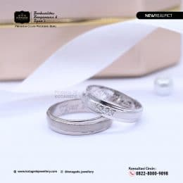Cincin Kawin Tunangan Palladium Doff Couple PD0208PD