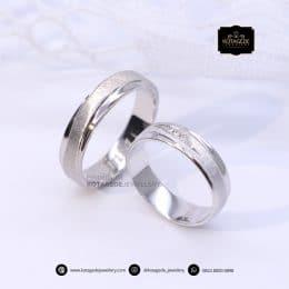 Cincin Kawin Tunangan Palladium Emas Putih Couple PD0191WG