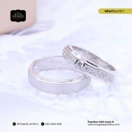 Cincin Kawin Tunangan Palladium Emas Putih PD0205WG