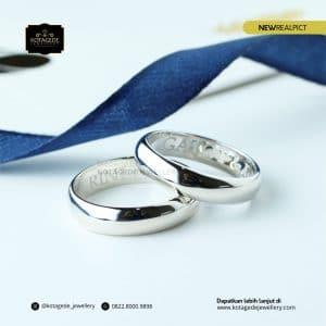 Cincin Kawin Tunangan Platinum Couple Elegant P0188TPT