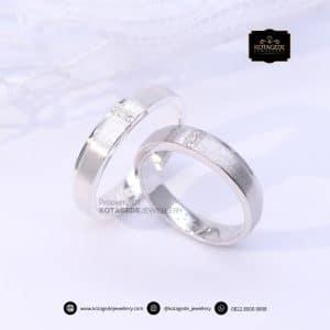 Cincin Kawin Tunangan Platinum Doff Diamond Couple PT0192PT