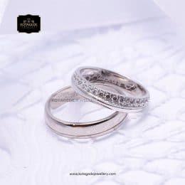 Cincin Kawin Tunangan Platinum Emas Putih Premium PT0197WG