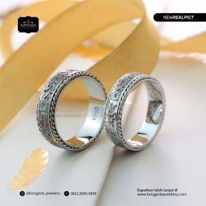 cincin ukir laser - motif batik