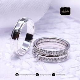 Cincin Kawin Tunangan Platinum Palladium Elegant PT0198PD