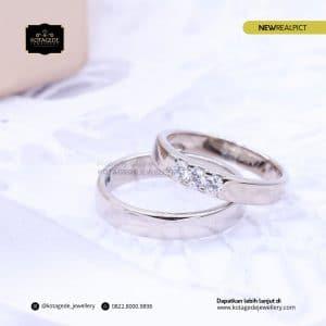 Cincin Kawin Tunangan Platinum Palladium Elegant PT0206PD