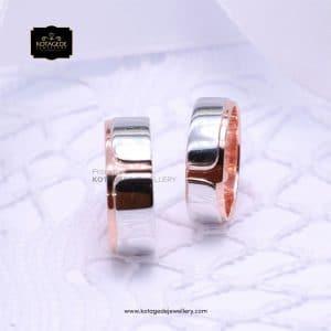 Cincin Kawin Tunangan Rosegold Unik Couple RG0198RG