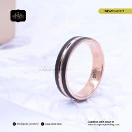 Cincin Kawin Tunangan Rosegold Unik RG0207