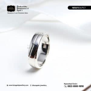 Cincin Kawin Tunangan Emas Putih Premium Elegant WG0216