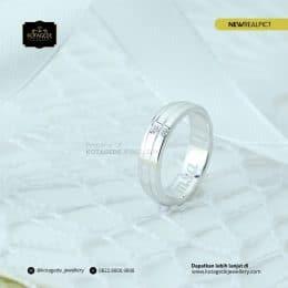Cincin Kawin Tunangan Emas Putih Premium WG0213