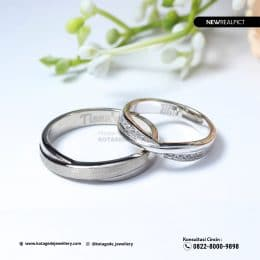 Cincin Kawin Tunangan Palladium Couple PD0221PD