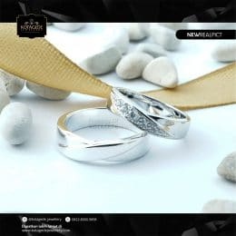 Cincin Kawin Tunangan Palladium Couple PD0225PD