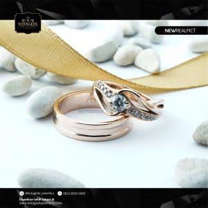 Cincin Kawin Tunangan Rose Gold Elegant RG0227RG