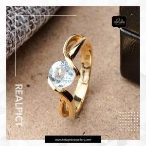 Cincin Kawin Tunangan Emas Kunning Diamond YG0236