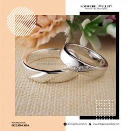 Cincin Kawin Tunangan Emas Putih Premium Couple WG0240WG