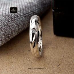 Cincin Kawin Tunangan Emas Putih Premium Elegant WG0240