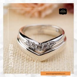 Cincin Kawin Tunangan Emas Putih Standar WG0232