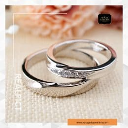 Cincin Kawin Tunangan Palladium Couple PD0233PD