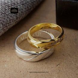 Cincin Kawin Tunangan Palladium Emas Kuning Couple PD0242YG
