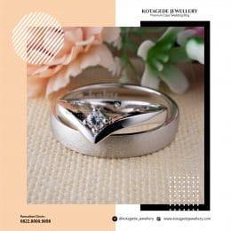 Cincin Kawin Tunangan Platinum Emas Putih PT0242WG