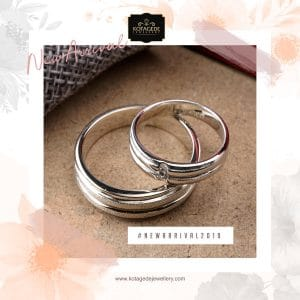 Cincin Kawin Tunangan Emas Putih Couple WG0245WG