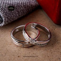 Cincin Kawin Tunangan Platinum Emas Putih PT0250WG