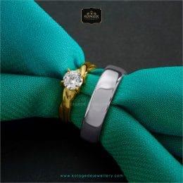cincin kawin tunangan platidium emas kuning PTD0272YG