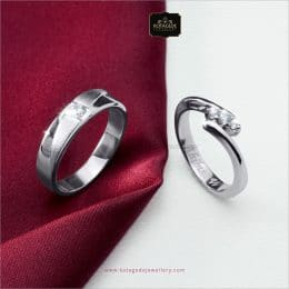 Cincin Kawin Tunangan Palladium Couple PD0278PD