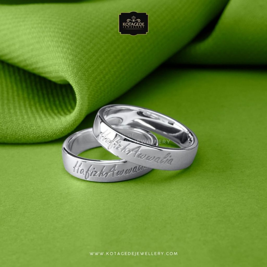 model cincin kawin terbaru dengan ukir laser