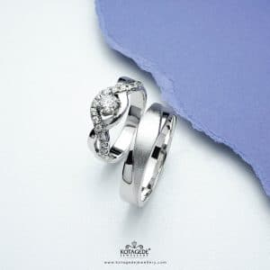 Cincin Kawin Tuangan Palladium Emas Putih Glamour PD0315WG