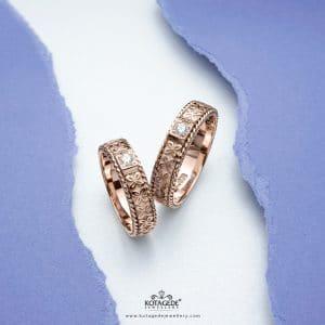 Cincin Kawin Tunangan Emas Batik Ukir RG0318RG