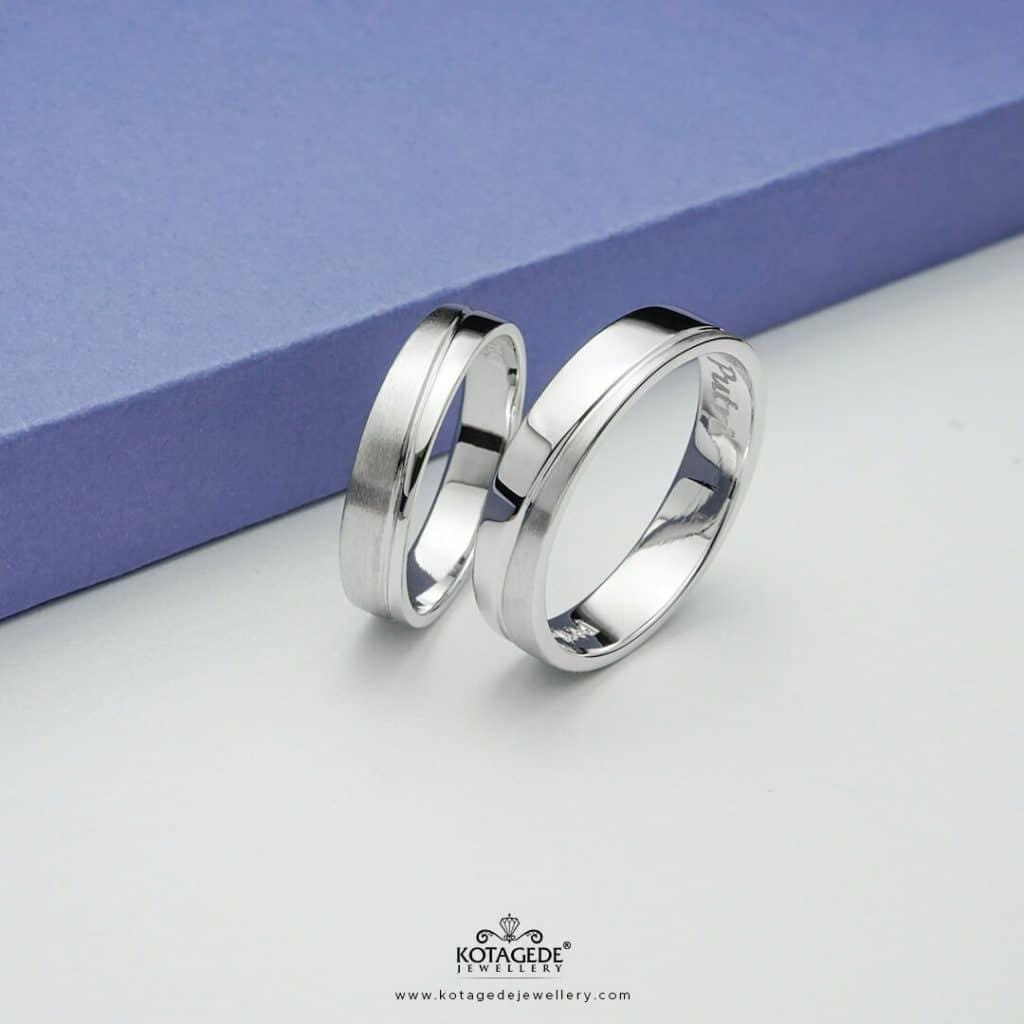 Cincin Kawin Tunangan Simple Double Finishing ptd0317ptd