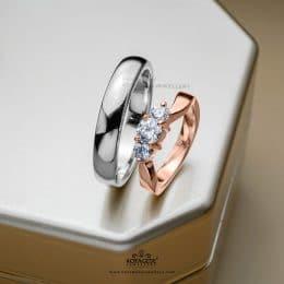 Cincin Kawin Tunangan Elegan Platidium Rosegeold PTD0329RG