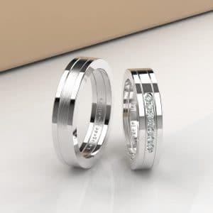 Cincin Kawin Tunangan Platidium Emas Putih Lis PTD0330WG