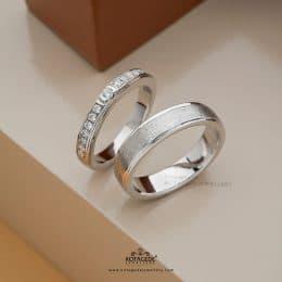 Cincin Kawin Tunangan Platidium Emas Putih Eternity PTD0333WG