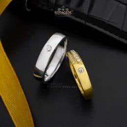 Cincin Kawin Tunangan Platidium Emas Kuning PTD0340YG