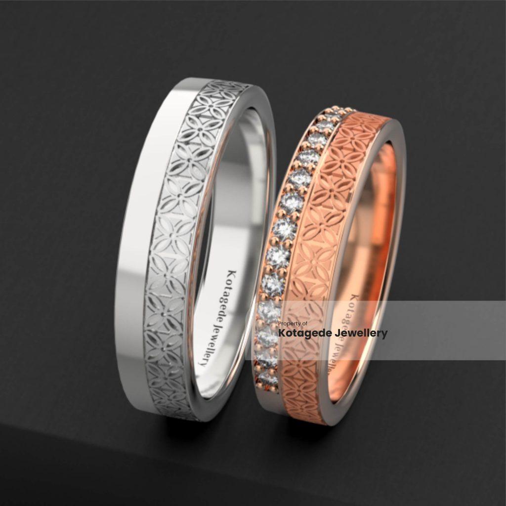 cincin emas rosegold laser batik luxury