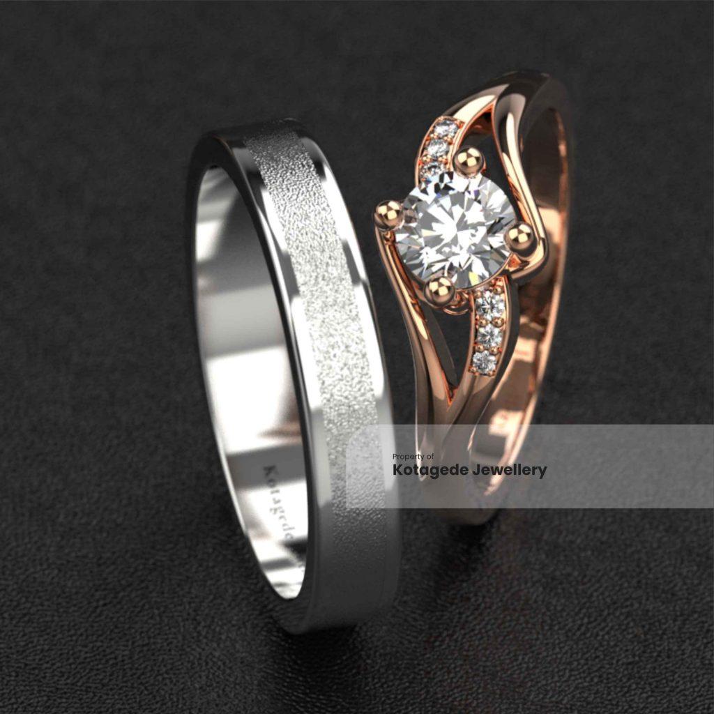 cincin emas rosegold luxury