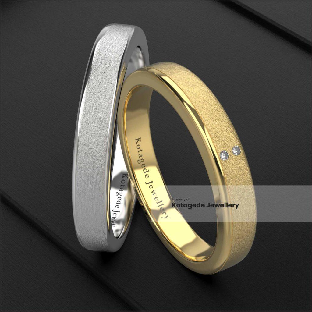 cincin kawin platidium emas kuning simple